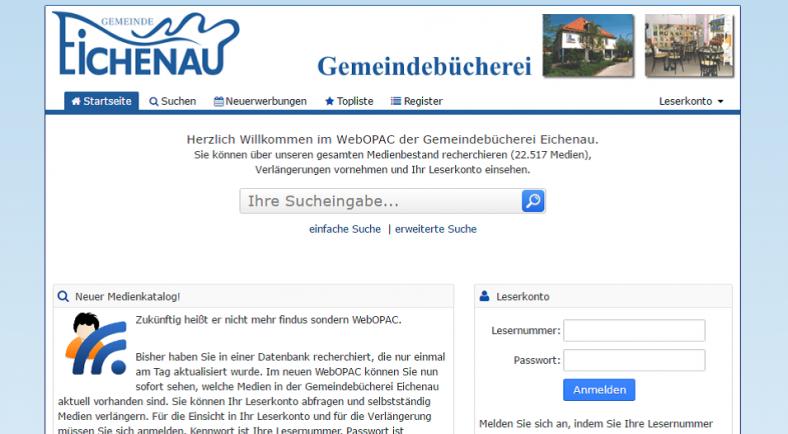 WebOpac Screenshot